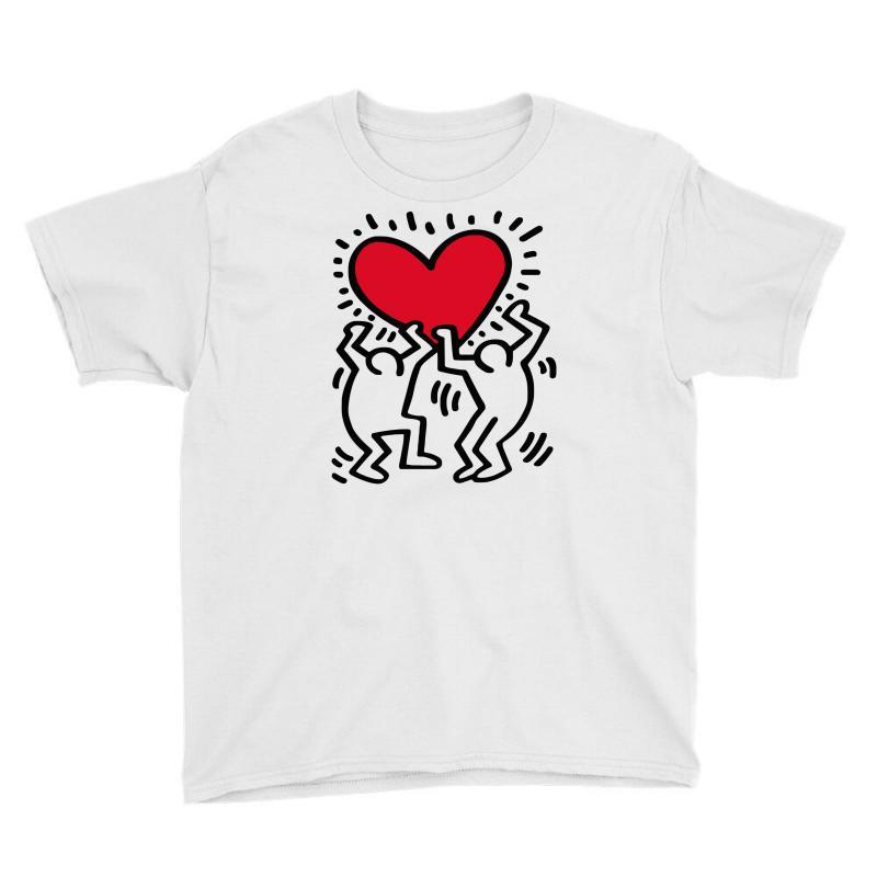 Keith Haring Big Love White Youth Tee | Artistshot