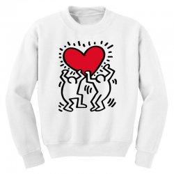 keith haring big love white Youth Sweatshirt | Artistshot