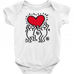 keith haring big love white Baby Bodysuit | Artistshot