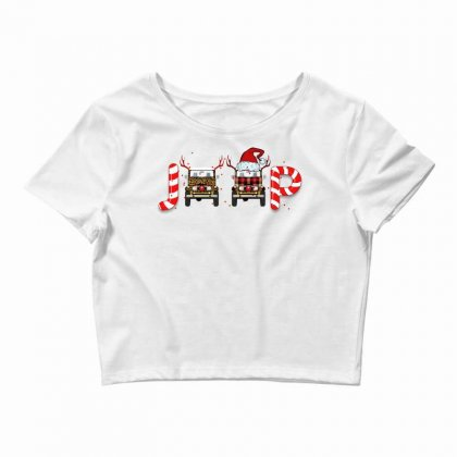 Jeep Christmas For Light Crop Top Designed By Sengul