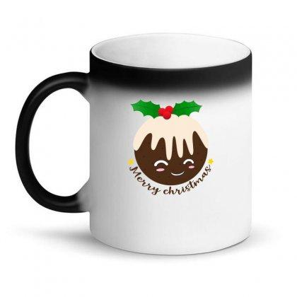 Merry Christmas Pudding Magic Mug Designed By Neset