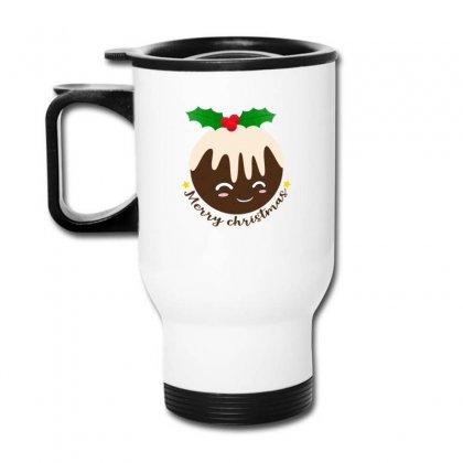 Merry Christmas Pudding Travel Mug Designed By Neset