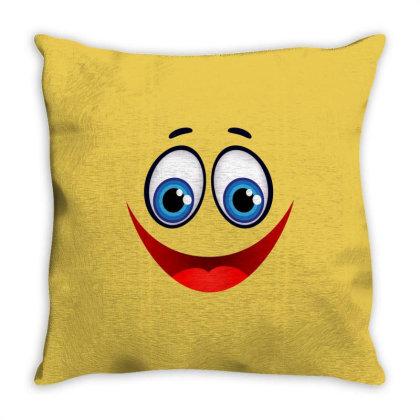 Smile Throw Pillow Designed By Estore