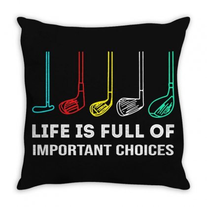 Choices Golf Throw Pillow Designed By Robertosupeno