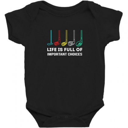 Choices Golf Baby Bodysuit Designed By Robertosupeno