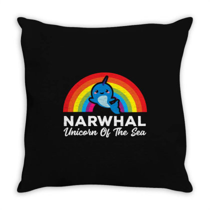 Unicorn Of The Sea   For Dark Throw Pillow Designed By Kevin Design