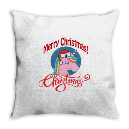 Unicorn Squad Merry Christmas Throw Pillow Designed By Kevin Design