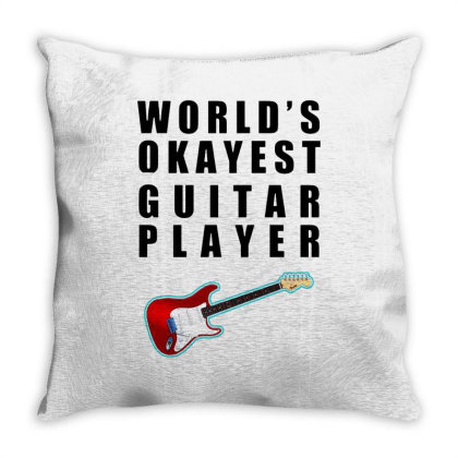 World's Okayest Guitar Player   For Light Throw Pillow Designed By Kevin Design