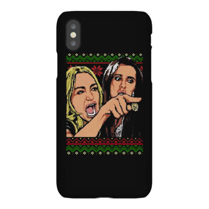 Woman Yelling At Cat Meme   Ugly Sweater Iphonex Case Designed By Kevin Design