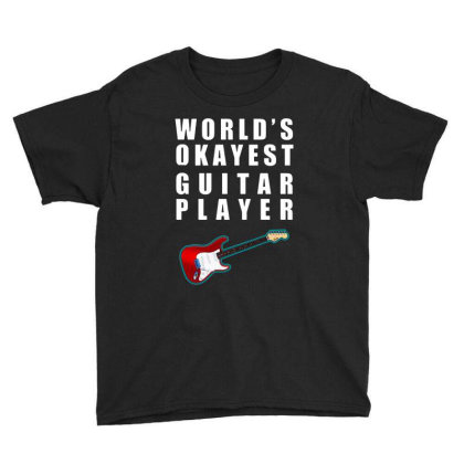 World's Okayest Guitar Player   For Dark Youth Tee Designed By Kevin Design