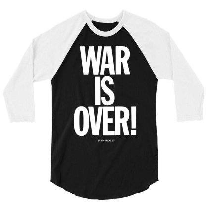 War Is Over   If You Want It   John Lenon   White Style 3/4 Sleeve Shirt Designed By Kevin Design