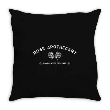 Rose Apothecary   White Throw Pillow Designed By Kevin Design