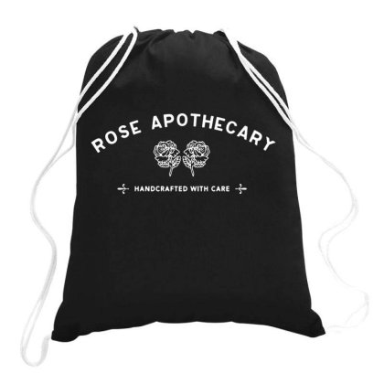 Rose Apothecary   White Drawstring Bags Designed By Kevin Design