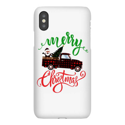 Truck With Plaid Christmas Tree & Cute Santa Iphonex Case Designed By Kevin Design