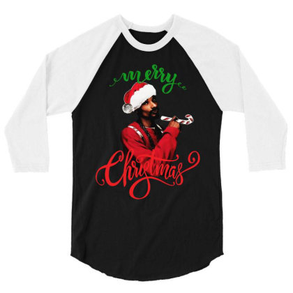 Snoop Dogg Merry Christmas 3/4 Sleeve Shirt Designed By Kevin Design