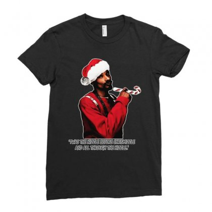 Snoop Dogg Christmas Ladies Fitted T-shirt Designed By Kevin Design