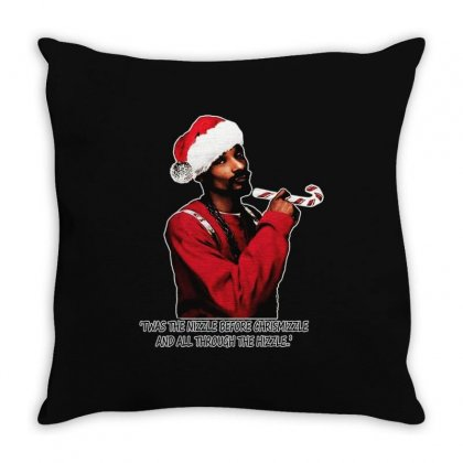 Snoop Dogg Christmas Throw Pillow Designed By Kevin Design