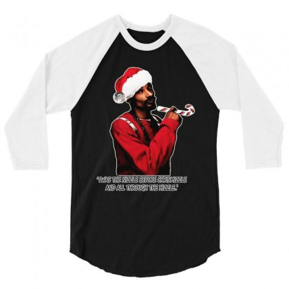 Snoop Dogg Christmas 3/4 Sleeve Shirt Designed By Kevin Design