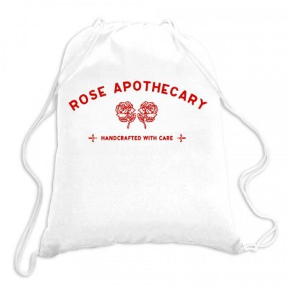 Rose Apothecary   Red Drawstring Bags Designed By Kevin Design
