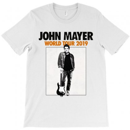 John Mayer World Tour 2019   For Light T-shirt Designed By Kevin Design