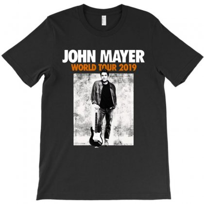 John Mayer World Tour 2019   For Dark T-shirt Designed By Kevin Design