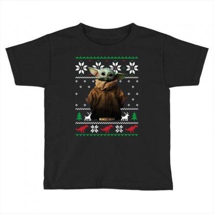 Child Potrait Mandalorian Ugly Christmas Sweater   For Dark Toddler T-shirt Designed By Paulscott Art