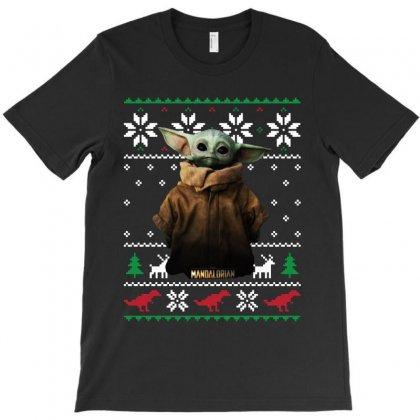 Child Potrait Mandalorian Ugly Christmas Sweater   For Dark T-shirt Designed By Paulscott Art