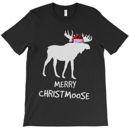 Funny Merry Christmas For Moose Lovers T-shirt Designed By Kevin Design