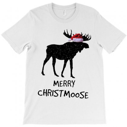 Funny Merry Christmas For Moose Lovers   Dark Style T-shirt Designed By Kevin Design