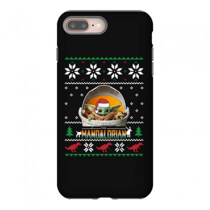 The Mandalorian Ugly Christmas Sweater   For Dark Iphone 8 Plus Case Designed By Paulscott Art