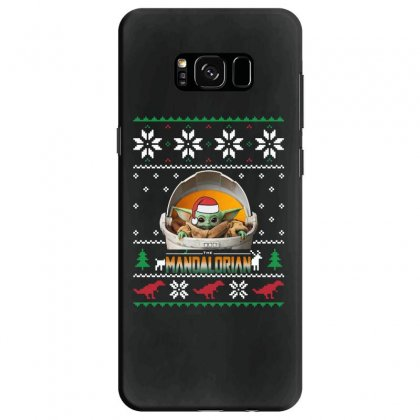 The Mandalorian Ugly Christmas Sweater   For Dark Samsung Galaxy S8 Case Designed By Paulscott Art