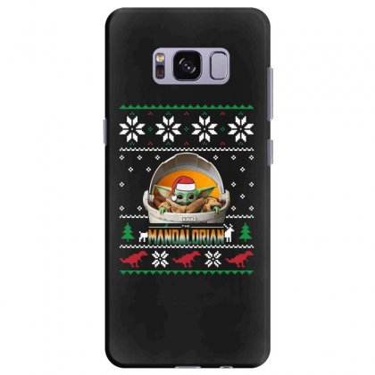The Mandalorian Ugly Christmas Sweater   For Dark Samsung Galaxy S8 Plus Case Designed By Paulscott Art