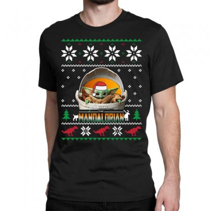The Mandalorian Ugly Christmas Sweater   For Dark Classic T-shirt Designed By Paulscott Art