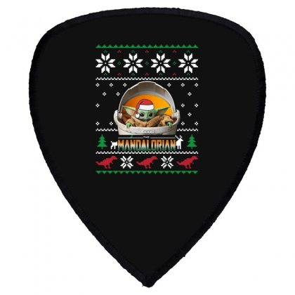 The Mandalorian Ugly Christmas Sweater   For Dark Shield S Patch Designed By Paulscott Art