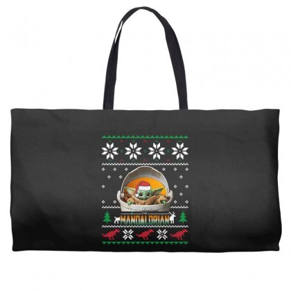 The Mandalorian Ugly Christmas Sweater   For Dark Weekender Totes Designed By Paulscott Art