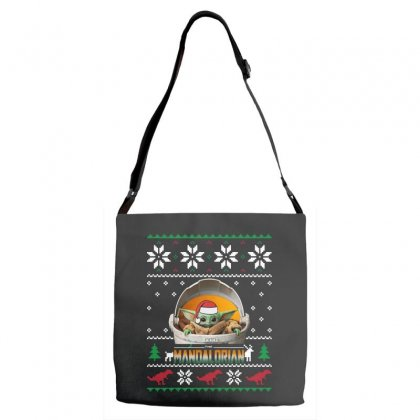 The Mandalorian Ugly Christmas Sweater   For Dark Adjustable Strap Totes Designed By Paulscott Art