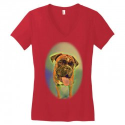 Walking the pack/array of dogdachshunds, being walked by singl Women's V-Neck T-Shirt | Artistshot