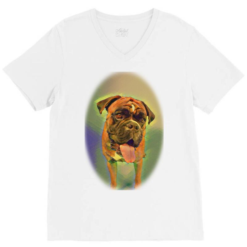 Walking The Pack/array Of Dogdachshunds, Being Walked By Singl V-neck Tee | Artistshot