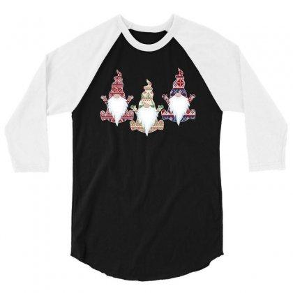 Ugly Christmas Sweater Gnome For Dark 3/4 Sleeve Shirt Designed By Sengul