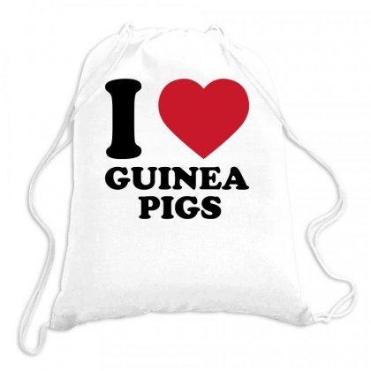 I Love Guinea Pigs Drawstring Bags Designed By Candrashop