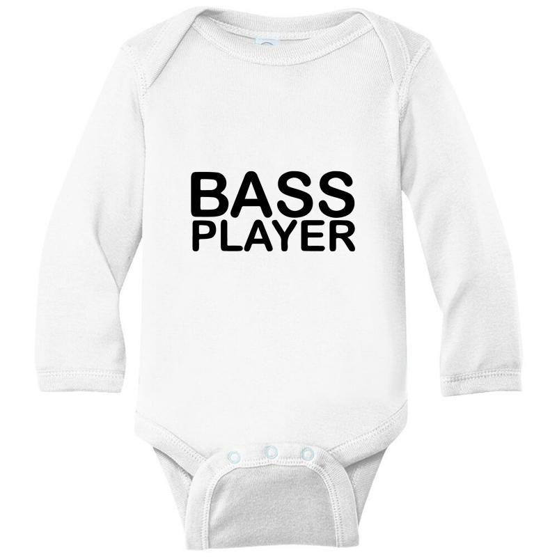Bass Player Long Sleeve Baby Bodysuit | Artistshot