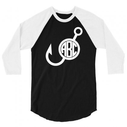 Fish Hook 3/4 Sleeve Shirt Designed By Bud1