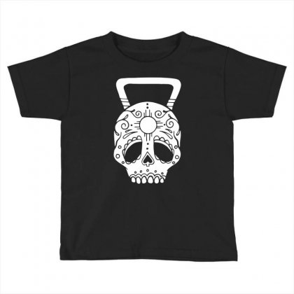 Kettlebell Skull Toddler T-shirt Designed By Candrashop