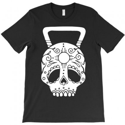 Kettlebell Skull T-shirt Designed By Candrashop