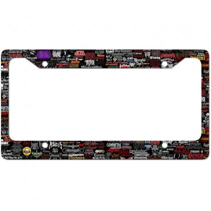 Metal Rock Bands College License Plate Frame Designed By Salmanaz