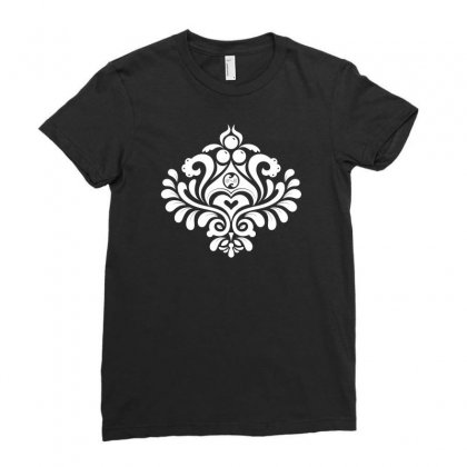 Labyrinth Damask Ladies Fitted T-shirt Designed By Bud1