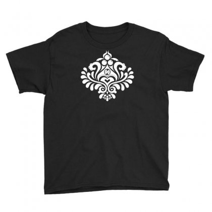 Labyrinth Damask Youth Tee Designed By Bud1