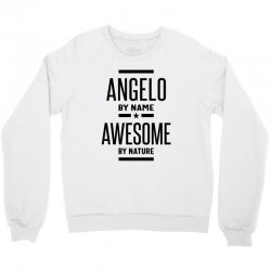 Angelo Personalized Name Birthday Gift Crewneck Sweatshirt | Artistshot
