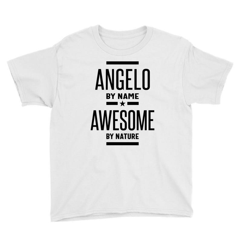 Angelo Personalized Name Birthday Gift Youth Tee   Artistshot