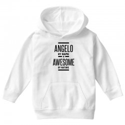 Angelo Personalized Name Birthday Gift Youth Hoodie | Artistshot